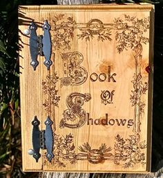 Wood Book of Shadows #wicca #pagan