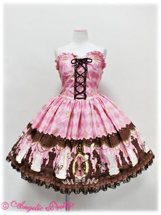 Lolibrary | Angelic Pretty - JSK - Chess Chocolate Bustier JSK