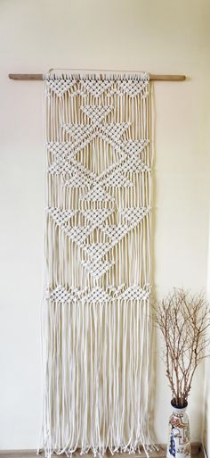 Boho Home Decor. Macrame Wall Hanging at KnitKnotSpace on Etsy http://www.etsy.com/shop/knitknotspace https://www.instagram.com/knitknotspace/  Handmade with love! My new Etsy store for knitted accessories and macrame home decor just got online! Please repin and visit me on Instagram if you like my items :)  #etsy #etsysellers #macrame #wallhanging # walldecor