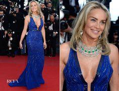 Sharon Stone In Roberto Cavalli - Behind the Candelabra Cannes Film Festival Premiere