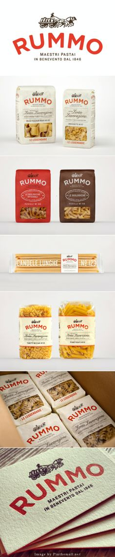 Pasta Rummo #packaging #typography #identity
