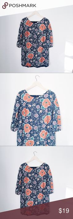 OLD NAVY FLORAL & BIRDS BOHO DRESS BUST: 21 inches. LENGTH: 32 inches. Old Navy Dresses