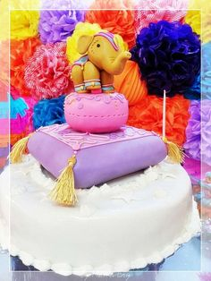 Elephant cake at a Hindu birthday party! See more party ideas at CatchMyParty.com!