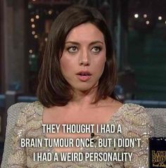 Aubrey Plaza…spirit animal