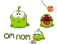 Om nom from cut the rope is just too cute