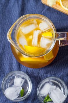 Lemon Iced Tea – With it's rich, golden color and sweet, bright flavor this refreshing tea a perfect addition to your summer table. Lemon Iced Tea Recipe, Iced Tea Recipes, Honey Lemon, Golden Color, Cold Brew, Drinking Tea, Easy Dinner Recipes, Cooking, Sweet