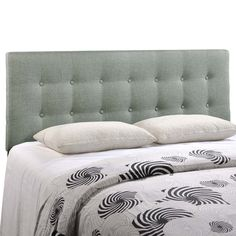 Emily Queen Fabric Headboard, Gray - Add elegance to your bedroom with the Emily tufted button headboard. Designed with just the right amount of grace, Emily is made from fiberboard, plywood, and fine polyester upholstering for a construction that is both lightweight and long-lasting. Perfect for contemporary and modern bedrooms, sleep soundly with a piece that imparts a sense of tranquility amidst an impressive backdrop of style. Set Includes: One - Emily Queen Headboard. Material: Frame…