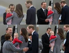 ROYAL TOUR: Prince George of Cambridge is not a fan of Australian prime minister Tony Abbott...
