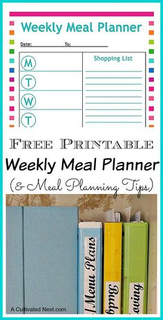 Free printable menu planning sheet and tips for meal planning.