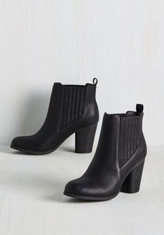 If you need one last motivator to kick start your freelance career growth, these block-heeled booties by Madden Girl will more than do the trick! This sleek black pair is accented simply, with elasticized gores, pull-on tabs, and vegan faux leather, to make your march to the top equal parts comfortable and chic.