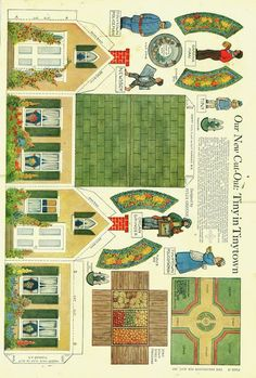 Town from Delineator 1915 - Bobe Green - Picasa Web Albums (diy paper house) Papel Vintage, Vintage Paper Dolls, Paper Doll House, Paper Houses, Cardboard Toys, Paper Toys, Paper Furniture, Bobe, Putz Houses