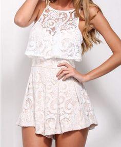 Such a cute romper. I love the lace