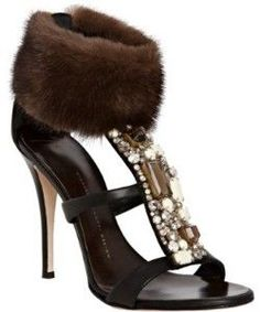 Giuseppe Zanotti This is brave! I could do this, but then.... I am sure my girls would finally have me committed! TRUTH.