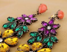 Graceful Alloy Dangle Earrings In Multicolor $10.98