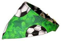Soccer Green Bandana Collar | Pet Apparel & Supplies | Waggy Pooch Apparel