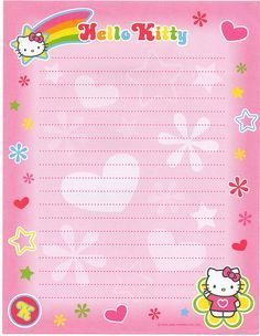 KAWAII SHEEPIE: Charmmy Kitty Stationary Scans | letter stuff ...