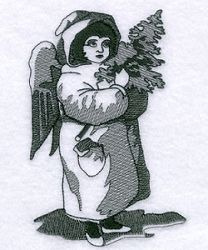 Snow Angel Toile - 5x7 | Toile | Machine Embroidery Designs | SWAKembroidery.com Starbird Stock Designs