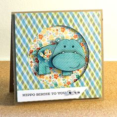 This one from March guest designer MDQ makes me squeal- stamps from Avery Elle, paper from My Mind's Eye.