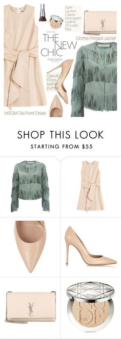 """""""The New Chic"""" by pokadoll on Polyvore featuring Drome, MSGM, Gianvito Rossi, Yves Saint Laurent, Christian Dior, Trish McEvoy, women's clothing, women, female and woman"""