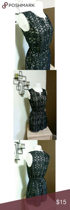 Spotted while shopping on Poshmark: {New Listing} Black Romper with Nude Lining! #poshmark #fashion #shopping #style #Xhilaration #Dresses & Skirts