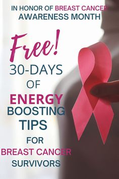 30 DAYS, IN OCTOBER. LIVE IN OUR FACEBOOK GROUP, ENERGY BOOSTING TIPS WITH CANCER SURVIVOR, KARIN DEL MAESTRO. AS WELL AS MASTERCLASS FOR BREAST CANCER SURVIVORS IN HONOR OF BREAST CANCER AWARENESS MONTH FREE AT THE END OF THE MONTH!