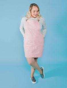 The Cleo Pinafore & dungaree dress sewing pattern from Tilly and the Buttons, find out more and read reviews of this dressmaking pattern