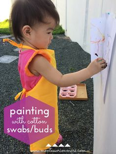 Montessori on Mars: Painting With Cotton Swabs / Buds