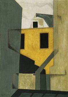 peira:  kafkasapartment: Niles Spencer: City Walls (1921) Oil paint on canvas