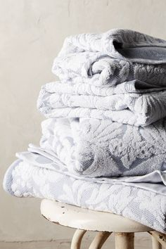 Anthropologie Mae Towel Collection