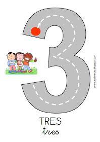 COSITAS PARA EL COLE: agosto 2013 Teaching Numbers, Numbers Preschool, Math Numbers, Kindergarten Math, Teaching Math, Preschool Activities, Counting Activities, Educational Activities, Math Games