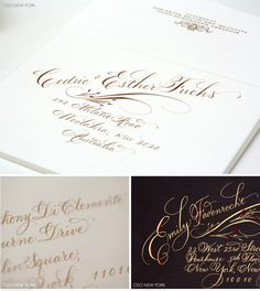 Ceci New York Couture Wedding Invitations featuring Hand Calligraphy. See more at: http://www.cecinewyork.com/cecistyle/v151
