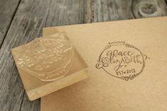 Custom Logo Stamp ( 3 x 3 )  - Custom Stamp - Customized Stamp -$50.00, via Etsy.