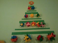 Origami Christmas tree i did last year, it was on wall in my bedroom ^^