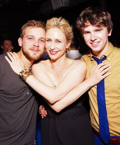 "Max Thieriot, Vera Farmiga and Freddie Highmore from ""Bates Motel."" Photo credit: A&E Network."