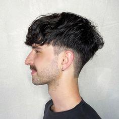 Long Fade Haircut, Men Haircut Curly Hair, Mens Crop Haircut, Short Taper Haircut, Undercut Curly Hair, Male Haircuts Curly, Guy Haircuts Long, Wavey Hair, Tapered Haircut