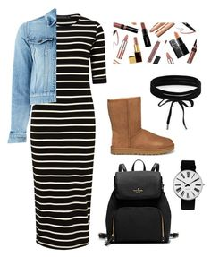 """Untitled #96"" by mollys1995 on Polyvore featuring Sugarhill Boutique, Yves Saint Laurent, UGG, Rosendahl and Boohoo"