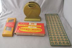 Vintage Bingomatic Transogram #BingoGame Pieces Crafting