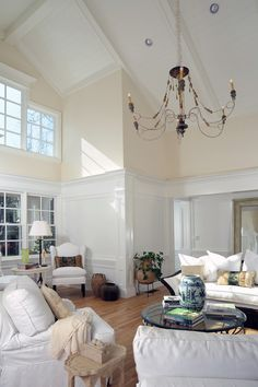 Bright living room. High ceilings. Open space, lots of light... and comfy.. my kind of house