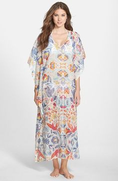 Antik+Batik+'Azule'+Floral+Mesh+Caftan+available+at+#Nordstrom