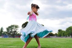 Reversible Twirly Dress® by TwirlyGirl®. The original twirly girls dresses designed by Cynthia Jamin since Fun, unique & pretty, machine washable. Made in the USA. Little Girl Summer Dresses, Girls Spring Dresses, Flower Girl Dresses, Friends Fashion, Kids Fashion, Fashion Outfits, Girls Boutique Dresses, Smart Outfit, Holiday Dresses