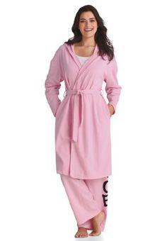 Roamans Plus Size Hooded Wrap Robe $26.99