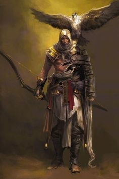 Bayek of Siwa - Character Concept, Concept Art, Character Design, Assassins Creed, Pc Memes, Anime Krieger, All Assassin's Creed, Japanese Oni, Manga