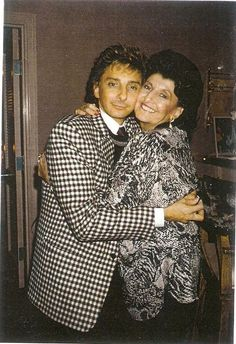 Barry Manilow and his mom Edna Manilow.