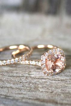 Morganite Engagement Rings Were Are Obsessed With ❤ See more: www.weddingforwa… Morganite Engagement Rings Were Are Obsessed With ❤ See Morganite Engagement, Morganite Ring, Halo Engagement Rings, Vintage Engagement Rings, Vintage Rings, Geode Jewelry, Jewelry Rings, Fine Jewelry, Gemstone Rings