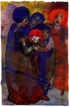 Group with children | Emil Nolde