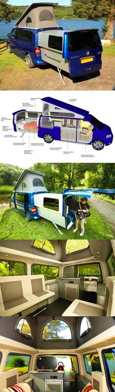 Awesome way of life! Multifunctional camping van blows my mind.