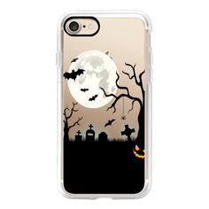 Halloween Silhouette iPhone Case - iPhone 7 Case, iPhone 7 Plus Case,... ($40) ❤ liked on Polyvore featuring accessories, tech accessories, phone, phone cases, tech, iphone case, iphone sleeve case, apple iphone case, iphone hard case and iphone cases