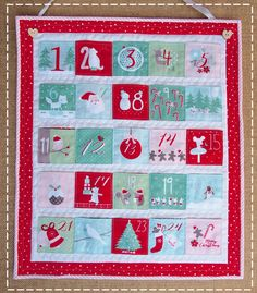 Completed Dashwood Studio Advent Calender finished