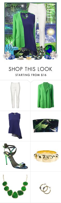 """Reed Krakoff ~ * Blue & Green For Spring *"" by kelley74 ❤ liked on Polyvore featuring Love Quotes Scarves and Reed Krakoff"