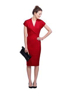 Aughton Shift Dress in Red | BAUKJEN